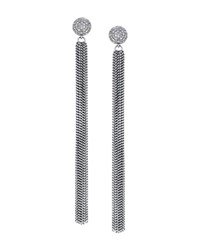 Sheryl Lowe Extra Long Diamond And Fringe Earrings