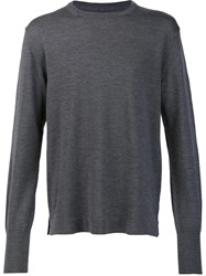 Officine Generale Crew Neck Jumper Grey
