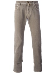 Jacob Cohen Slim Fit Chinos Brown