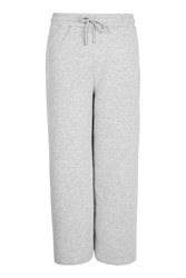 Topshop Cropped Wide Leg Joggers Grey
