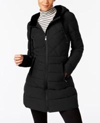 Inc International Concepts Velvet Trim Puffer Coat Only At Macy's Black