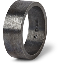 Acne Studios Oxidized Sterling Silver Ring