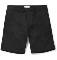 Ami Alexandre Mattiussi Slim Fit Cotton Drill Chino Shorts Black