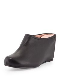 Boston Napa Leather Mule Black Taryn Rose