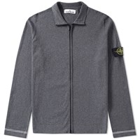Stone Island Raw Cotton Zip Jacket Grey
