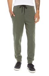 Hudson Jeans Slim Fit French Terry Jogger Pants Fatigue Green