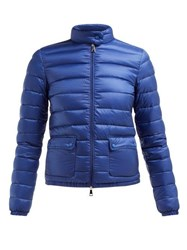 Moncler Lans Quilted Down Filled Jacket Blue