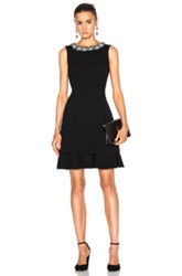 Oscar De La Renta Embellished Collar Cocktail Dress In Black