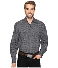Stetson Lariat Brocade Snap Grey Men's Clothing Gray