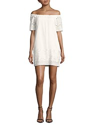 Saks Fifth Avenue Off The Shoulder Lace Dress White