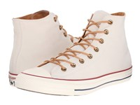 Converse Chuck Taylor All Star Peached Canvas Hi Parchment Biscuit Egret Lace Up Casual Shoes White