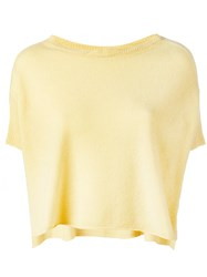 Kristensen Du Nord Knitted T Shirt Yellow Orange