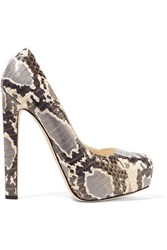 Brian Atwood New Maniac Elaphe Platform Pumps Animal Print