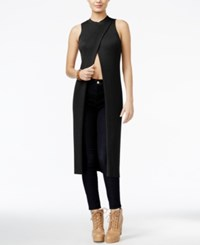 Guess Sleeveless Open Front Tunic Jet Black