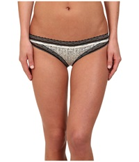 Calvin Klein Underwear Perfectly Fit Sexy Signature Bikini With Lace Subtle Print Women's Underwear Taupe