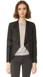 Bb Dakota Siena Soft Leather Jacket Black