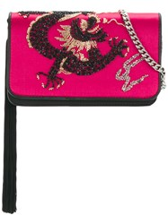 Les Petits Joueurs Embellished Clutch Pink And Purple