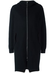 Moncler Gamme Rouge Reversible Hooded Padded Coat Black