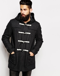 Asos Wool Duffle Coat Charcoal