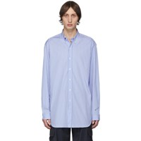 Vetements Blue And White Stripe Anarchy Shirt