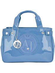 Valextra Removable Strap Laptop Bag Blue