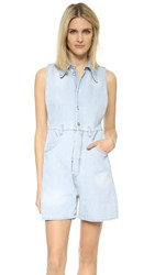 Maison Martin Margiela Bleach Stonewashed Romper Light Blue