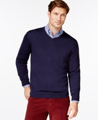 Cutter And Buck Douglas V Neck Sweater Liberty Navy