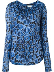 Wunderkind Printed Longsleeved Top Blue