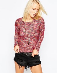 Ax Paris Jumper In Mix Knit Multi