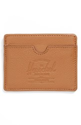 Herschel Men's Supply Co. 'Charlie' Leather Card Case Brown Tan Leather