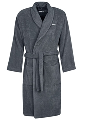 Gant Terry Dressing Gown Graphite Dark Gray