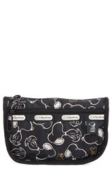 Le Sport Sac Lesportsac Travel Cosmetic Case Snoopy Shuffle Black