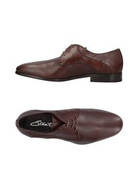 Eveet Lace Up Shoes Dark Brown