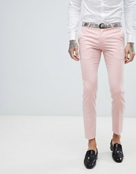 Noose And Monkey Super Skinny Wedding Tuxedo Suit Trousers Pink