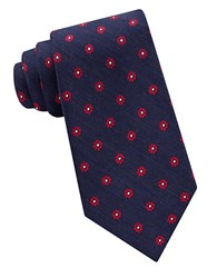 Lord And Taylor The Mens Shop Floral Dot Patterned Silk Neck Tie Red