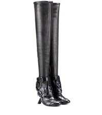 Tom Ford Thigh High Buckle Boots Black