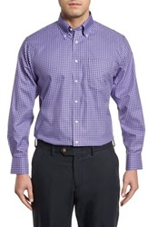 Nordstrom 'S Big And Tall Men's Shop Traditional Fit Non Iron Gingham Dress Shirt Grey Pearl