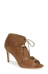 Women's Via Spiga 'Vibe' Lace Up Pump Brown Suede