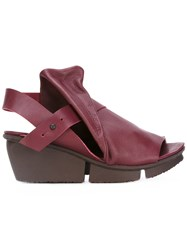Trippen Wedged Sandals Red