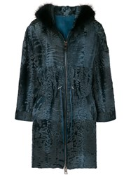 Liska Melissa Coat Lamb Skin Lamb Fur Xl Blue