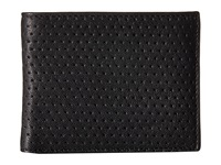 John Varvatos Perforated Slim Fold Wallet Black Wallet