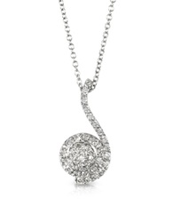 Forzieri 034 Ctw Diamond Pave 18K White Gold Pendant Necklace