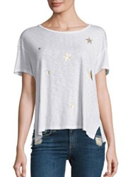 Sundry Gold Stars Loose Tee White