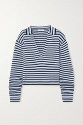 Georgia Alice Oversized Striped Knitted Sweater Blue