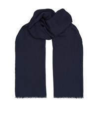 Tom Ford Cashmere Blend Twill Scarf Unisex Navy