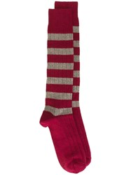 Church's Striped Socks Red