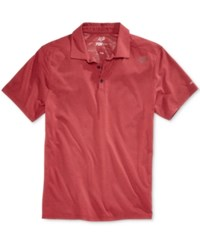 Fox Men's Rookie Trudri Graphic Print Logo Polo Heather Red