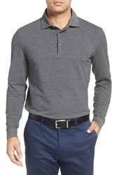 Bobby Jones Men's 'Liquid Cotton' Long Sleeve Jersey Polo Charcoal Heather