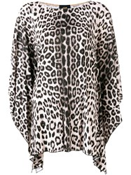 Class Roberto Cavalli Leopard Print Blouse Pink And Purple