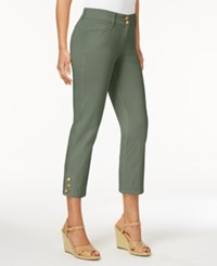 Charter Club Solid Capri Pants Only At Macy's Sage Green